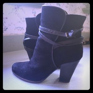 All Saints Suede Black Boot 39